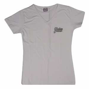 Athletic Classic Girls Off White Tshirt-100% Combed Cotton(Available-L Size)