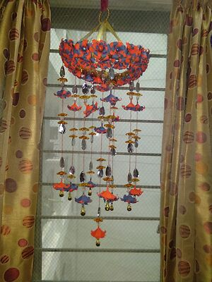 craft paper wind chimes