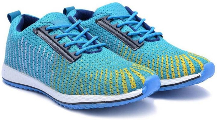 Blue Textured Sports Shoes