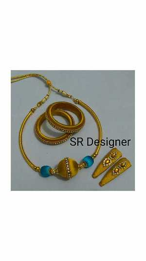 silk thread jewellery sets for 3 years baby .
