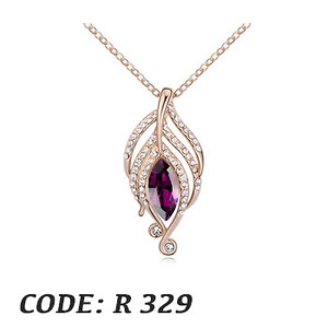 Stellux Crystal 18K gold plated Chain and pendant