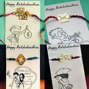 Quirky Rakhis with Cute Cards
