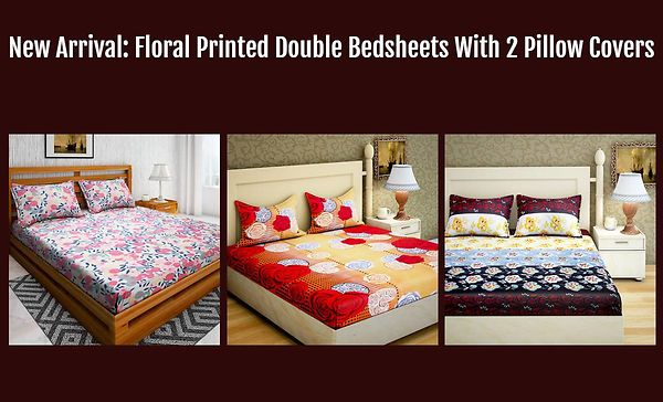 new-arrival-floral-printed-double-bedsheets-with-2-pillow-covers