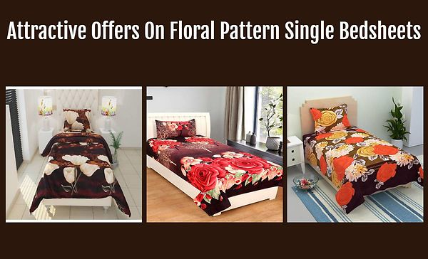 attractive-offers-on-floral-pattern-single-bedsheets
