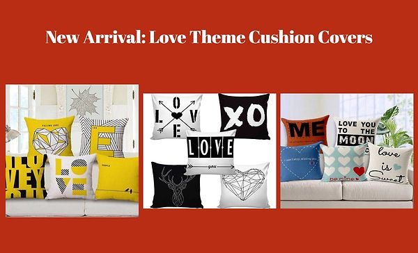 New Arrival: Love Theme Cushion Covers