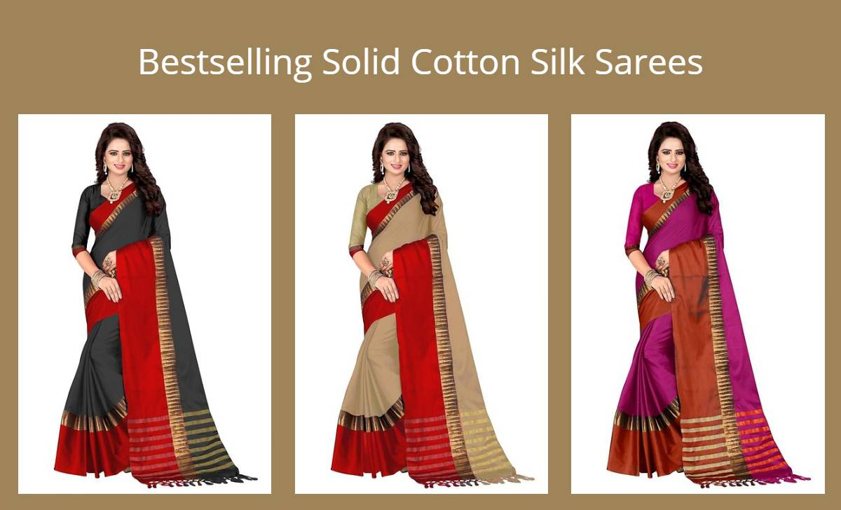 bestselling-solid-cotton-silk-sarees