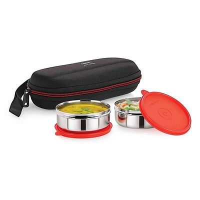 Red Max Fresh Super Steel Lunch Box Set 2-Pieces