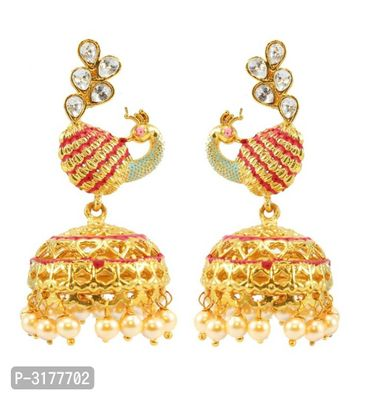 Golden Color Alloy Jhumkas