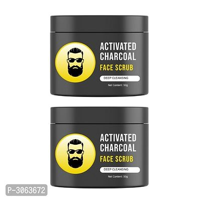 Men's Exclusive - L'Glam Activated Charcoal Face Scrub (Pack of 2)