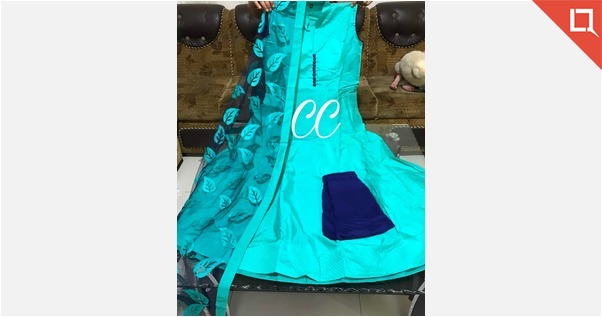 PRESENTING BEAUTIFULL SILK FULLY STICHED ANARKALI STYLE DRESS IN EXCITING COLOURS  😍😍😍😍 44 size DESIGNER NET DUPATTA