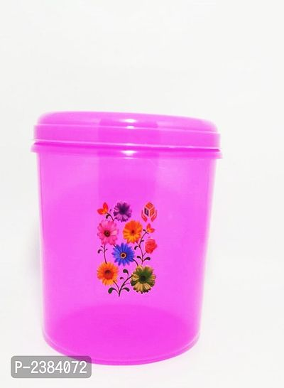 Color Plastic Storage Container Set of 1,2000ml,Pink