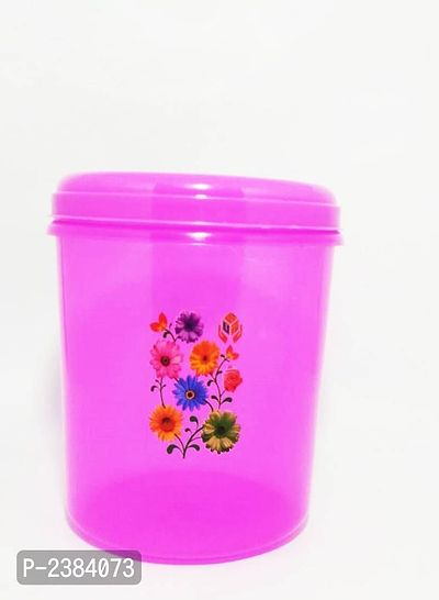 Color Plastic Storage Container Set of 1,3000ml,Pink