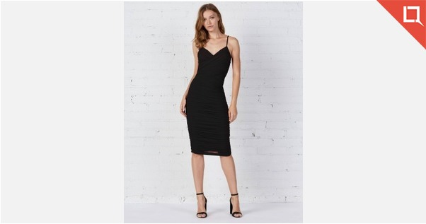Bailey 44 Black Strap Dress