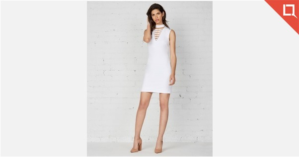 Bailey 44 White Party Dress