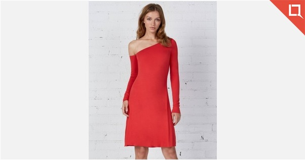 Bailey 44 Red Off Shoulder Party Dress