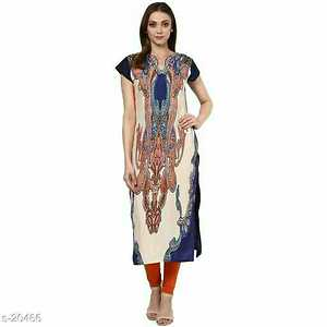 Fabric: Crepe  Sleeve: Sleeves Are included All sizes are available   Type: Stitched  Work: Printed