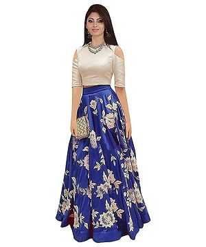 Lehenga Choli for Women Bengalory Silk Blue Arrohi