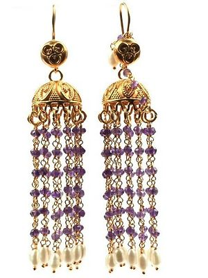 Gold plated 925 silver hand made jhumkis