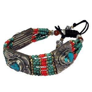Tribal Tibetan gemstone bracelet
