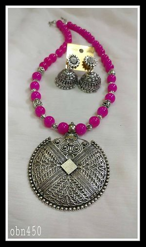 German Silver Beads Necklace Sets