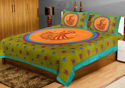 100×100 pure cotton bedsheets of fast colours