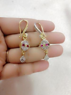 American diamond stud Earings