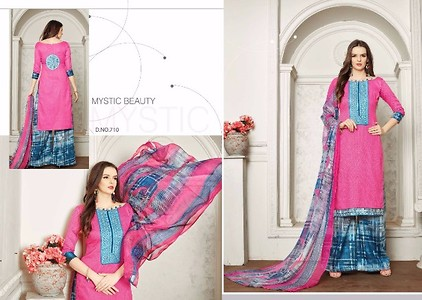Rupali oreo-7  Glase cotton print with embroidery -