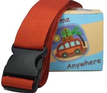 Statex Adjustable Apricot Orange Luggage Strap - Pack of 2