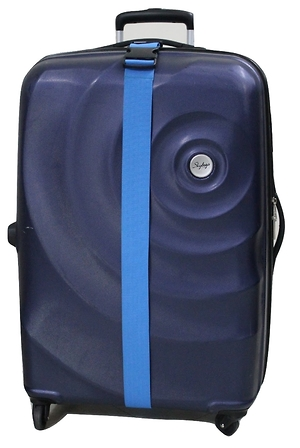 Statex Adjustable Peacock Blue Luggage Strap - Pack of 2%>