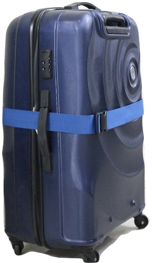 Statex Adjustable Royal Blue Luggage Strap - Pack of 2