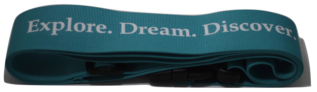 Statex Printed Adjustable Luggage Strap (Aqua Blue) with Cool caption-Pack of 2