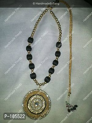 Black Silk Thread necklace