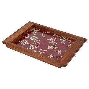 FSX10755 Sheesam wood tray with Fabric base