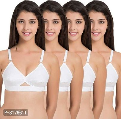 Trendy Cotton Solid Bra Pack Of 4