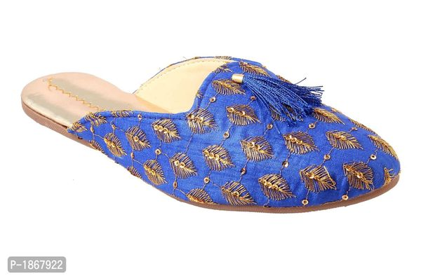 Blue Mules For Womens