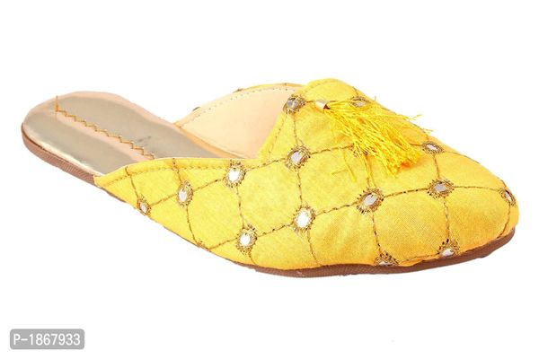 Yellow Mules For Womens
