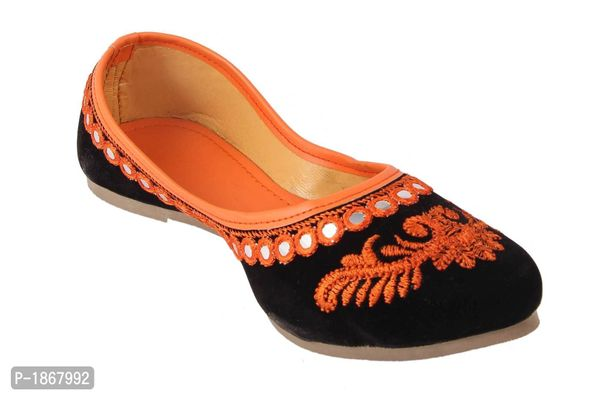 Orange Mojaris For Womens