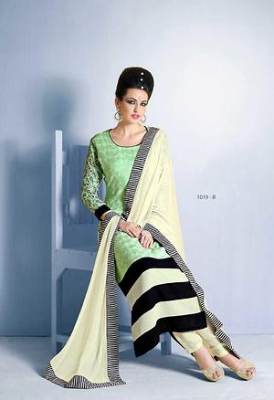 Faux Georgette Casual Straight Suit