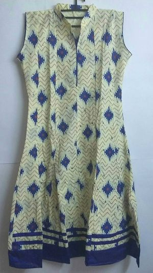cotton kurta with mirror work