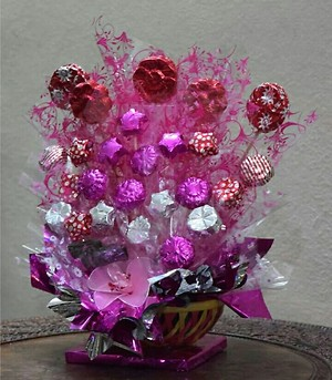 colour full chocolate bouquet