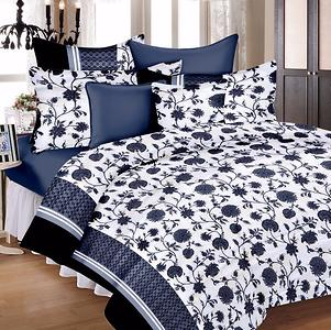 100% Cotton Double Bedsheet With Two Pillow Covers