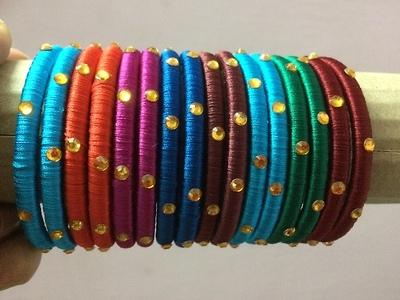 Simple Silk thread bangles