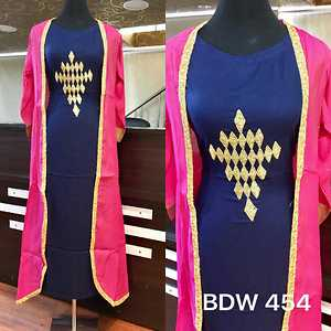 BDW 454  Summer silk jacket with Rayon inner. Cut Dana hand work on inner. Inner length 54. Jacket length 50. Ready size 40 with 4 inches margin.