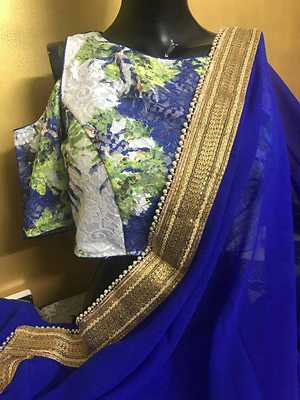 Gorgette saree with blouse