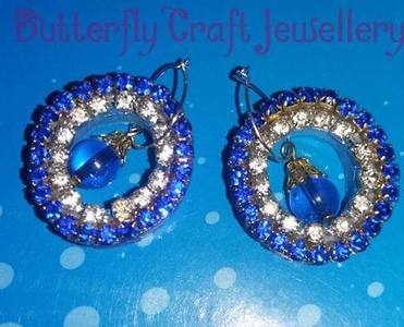Trendy quilling ear ring