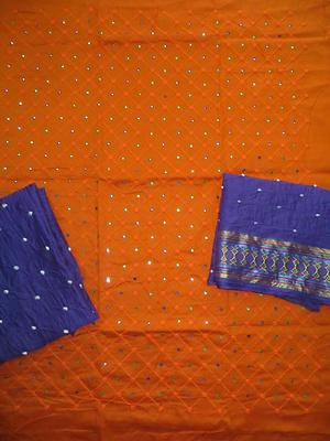 EMBROIDERY WITH HAND MIRROR WORK DRESS MATERIAL