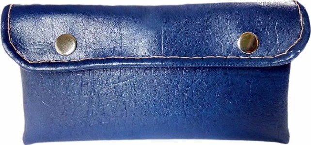 AUK Unisex Leather Hand Purse Pouch  (Blue)