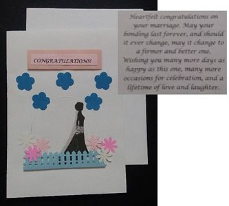 Greeting cards with message