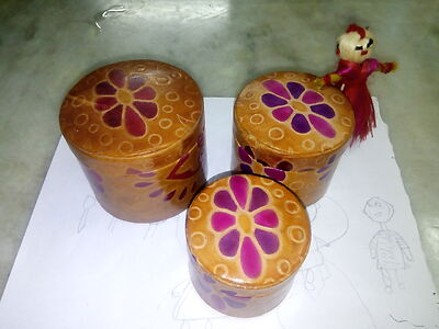 Handcrafted Shantiniketan Leather Accessories Cintainer