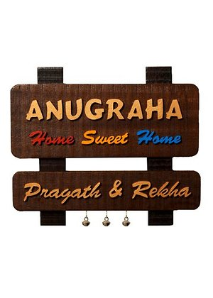 Customized Handcrafted Wall Name Plates
